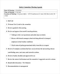 safety meeting agenda