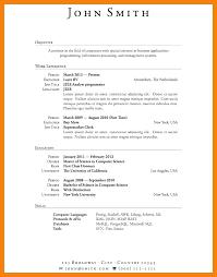 Resume Undergraduate Inspiration Undergraduate Research Resume Example Experience Internship Format