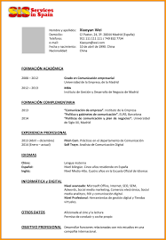 Spanish Resume Free Resume Templates Download Entry Level Template