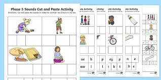 Phonics is a method of teaching kids to learn to read by helping them to match the sounds of letters, and groups of letters, to distinguish words. Phase 5 Sounds Cut And Paste Worksheet Activity Sheets