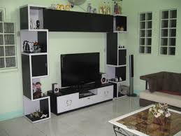 ... Awesome Black And White Simple Tv Stand Units Design For Living Room  With Open Storage Shelves Heritage Bedroom Sets Wall ...
