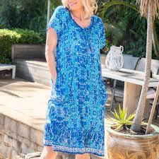 Orientique Tassel Tie Mosaic Dress Openshop
