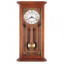 bulova cirrus oak wall clock model c3375