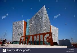 Marks Design Belfast Closed A Giant Steel Name Plate Marks The Entrance To The Titanic