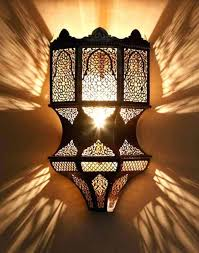 moroccan style lighting fixtures ornate wall sconce installed in the wall moroccan inspired light fixtures