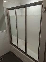 triple track shower doors creative