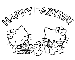 Hello Kitty Easter Coloring Pages Coloring Pages Download
