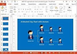 Animated Organizational Chart Animated Org Chart Powerpoint Template Jpg Fppt