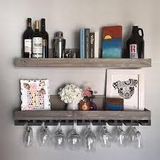 wood wine rack shelves the ryan wall