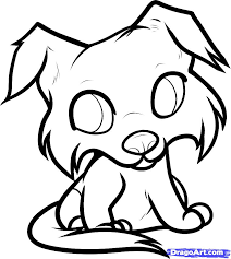 Small Picture How To Draw A Cute Puppy At Drawing Es Coloring Pages