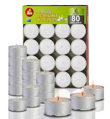 5 Hour Tea Light Candles Ner Mitzvah 6 Hour Tea Light Candles 80 Pack Bulk Package White Unscented Travel Centerpiece Decorative Candle With Maxi Burn Time Pressed Wax