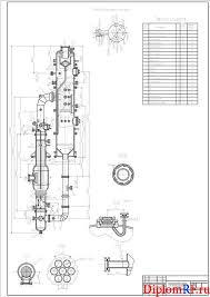 Дипломное исследование в области систем регулирования процессов  Чертеж аппарата выпарного с естественной циркуляцией вынесенными греющей камерой и зоной кипения