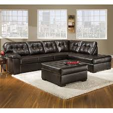 View Simmons Faux Leather Manhattan Sectional Deals at Big Lots