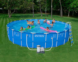 intex 24 x 52 metal frame pool set