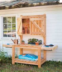 this potting bench is amazing it has extended counter space which gives you more room to spread out your supplies