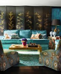 Turquoise Living Room Ikat Interiors By Color 4 Interior Decorating Ideas