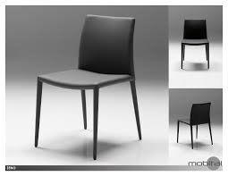 zeno dining chair leatherette box (multiple colors) by mobital