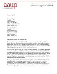 aaup letter page aaup emory aaup letter page 1