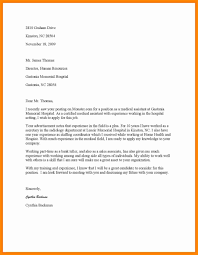 Example Of Resume With Cover Letters Examples Of Cover Letters For Resumes For Medical Assistants