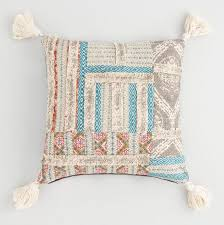 tassel throw pillow. Exellent Throw Multicolor Patchwork And Tassel Throw Pillow  World Market To