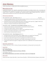 Sample Resume For Paraprofessional Position Sugarflesh