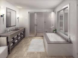 natural stone flooring types for bathroom remodeling ideas with white wall tiles and elegant interior lighting using extra large square mirrors