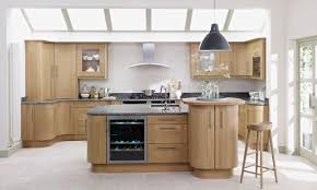 Natural Oak Kitchen Cabinets Kitchen Wonderful Natural Wood Kitchen Cabinet Ideas With Black