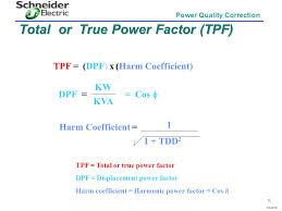 total or true power factor tpf