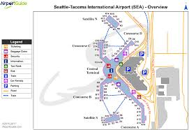seattle  seattletacoma international (sea) airport terminal maps