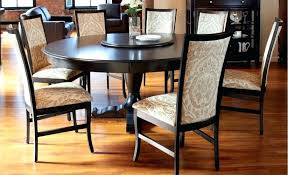 round table 60 inches round dining room table sets white varnished wooden dining table black modern