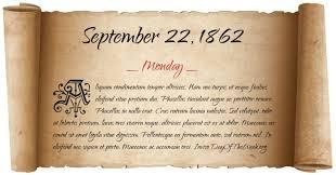 Image result for Sept. 20, 1862 calendar