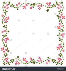 Flower Edge Design Abstract Flower Diamond Edge Floral Pattern Stock Vector