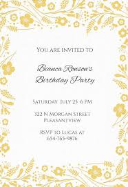Party Borders For Invitations Wildflower Borders Birthday Invitation Template Free
