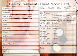 new beauty client card treatment consultation card photo background