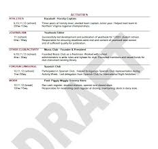 Sample College Application Resume Sarahepps Com