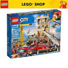LEGO CITY 60216 Đội Cứu Hỏa Thành Phố (943 chi tiết) Bộ gạch đồ chơi lắp  ráp giao thông cho trẻ em