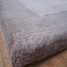 jacaranda chunky velvet rugs in natural grey a wool pile plain