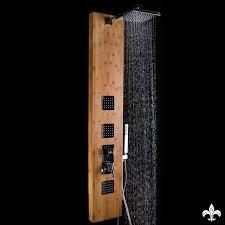 Duschpaneel Mit Bambus Korpus Und Chrom Sk 425b