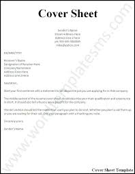 Cover Page Resume Examples Sample Cover Letter Resume Examples