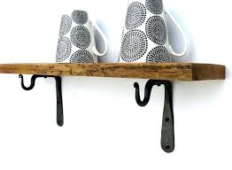 iron wall shelf black metal shelves wrought kitchen india