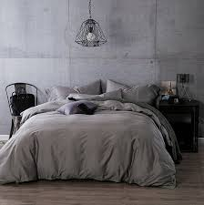 kiss tell 100 egyptian cotton duvet cover sets solid color soft duvet cover king silver grey