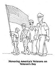 Veteran Day Coloring Pages Veterans Free For Adults Color Acnee
