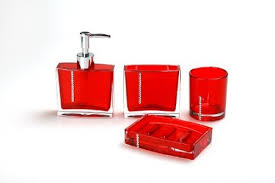 Buy Acrylic Bathroom Set Wtih Diamoud Stud Fashion Bathroom