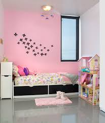 Washable Pink Wall Paint Applied On Kidsu0027 Room Wall System A Twin Sized  Bed Frame