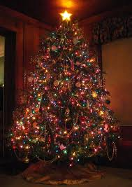 Christmas decor  Vantage Christmas Tree - multicoloured lights