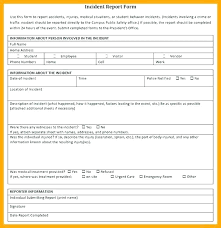 Hospital Incident Report Template