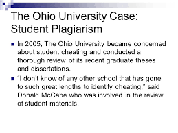 The Ohio University Case  Student Plagiarism In       The Ohio University became concerned about SlidePlayer