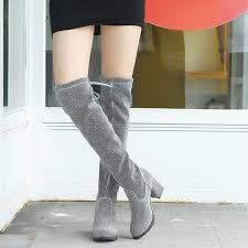 2018 Sequined <b>Over The Knee Boots Female European</b> And ...