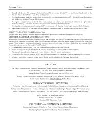 marketing manager resume advertising marketing director resume