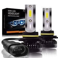 Mushan New Version 9005 Hb3 Led Headlight Bulbs Mini Bulb For Hi Low Beam Fog Light 38w 6000k 4000lumens Ultra Thin 9005 Advanced Cob Chips